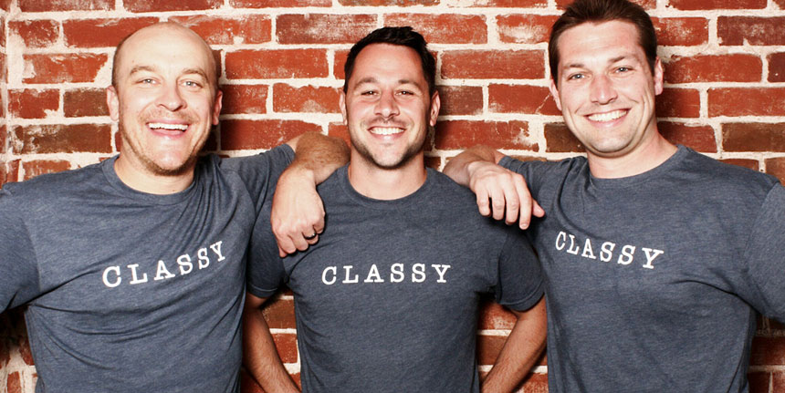 Classy Co-Founders Marshall Peden, Scot Chisholm and Pat Walsh