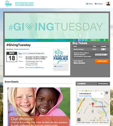 Children & Families First - Giving Tuesday. thumbnail