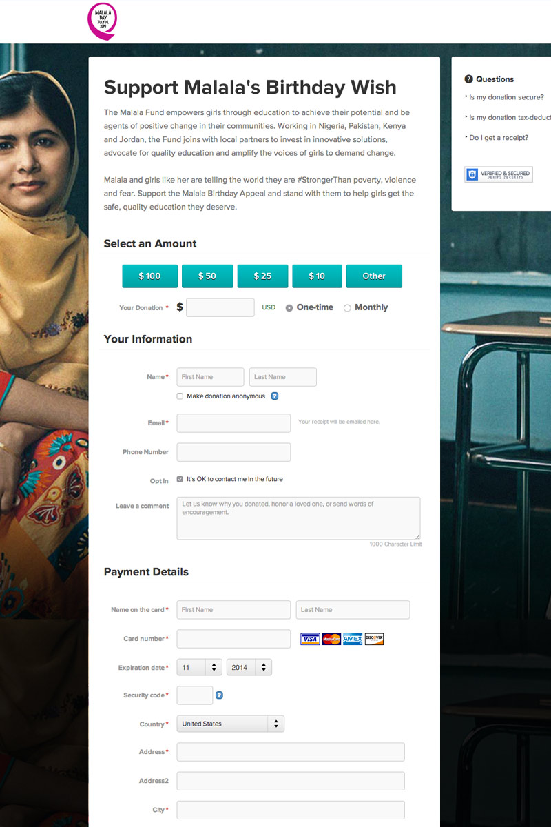 Malala Fund - Malala Day screenshot