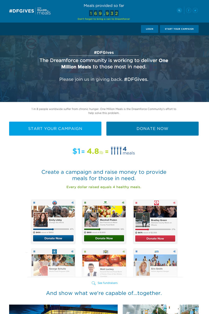 Salesforce.com Foundation screenshot
