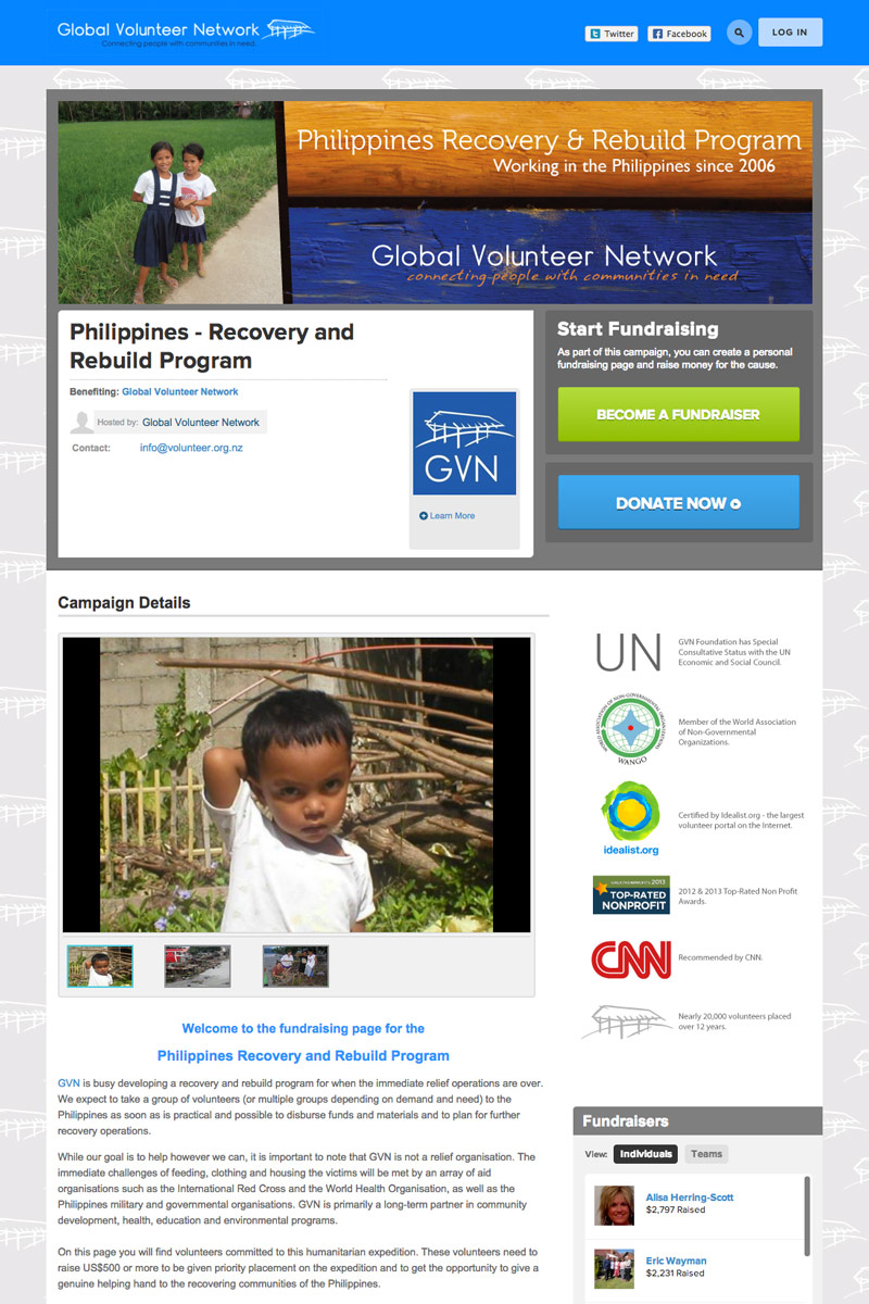 GVN - Philippines Recovery and Rebuild Program screenshot