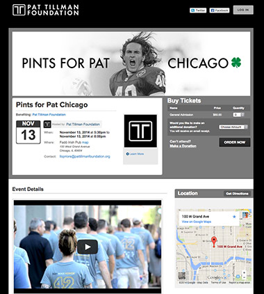 Pat Tillman Foundation - Pints for Pat Chicago thumbnail