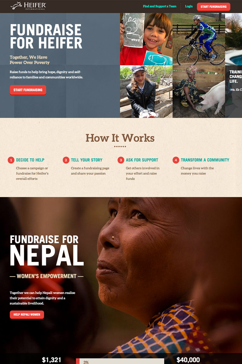 Heifer International screenshot