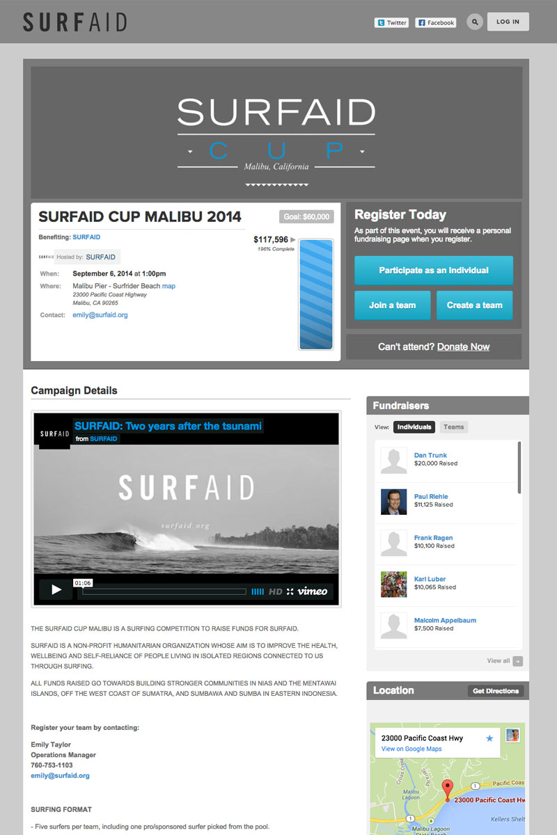 Surfaid screenshot